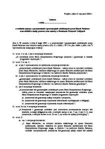 Projekt z dnia 21 stycznia 2009 r. Ustawa z dnia