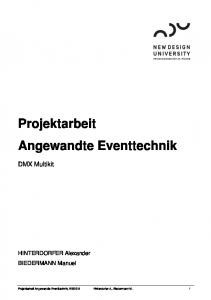 Projektarbeit Angewandte Eventtechnik