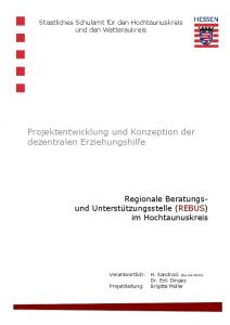 Projektentwicklung und Konzeption der dezentralen Erziehungshilfe