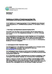Projektierung und Betrieb von Energieerzeugungsanlagen EEA im Parallelbetrieb mit dem Niederspannungs-Versorgungsnetz der EVE