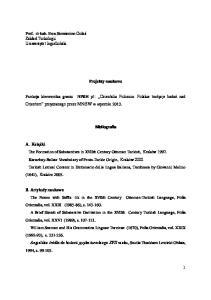Projekty naukowe. Bibliografia