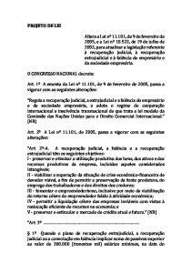 PROJETO DE LEI. O CONGRESSO NACIONAL decreta:
