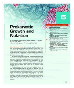 Prokaryotic Growth and Nutrition