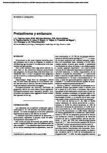 Prolactinoma y embarazo