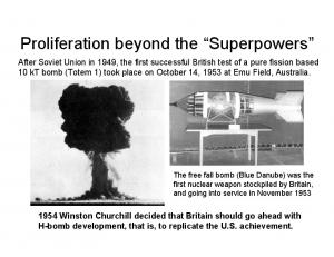 Proliferation beyond the Superpowers