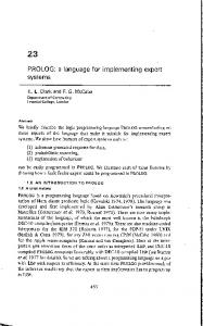 PROLOG: a language for implementing expert systems