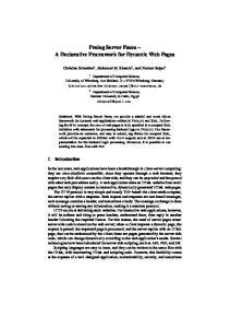 Prolog Server Faces A Declarative Framework for Dynamic Web Pages