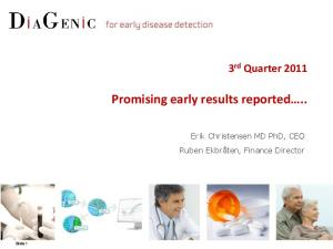 Promising early results reported