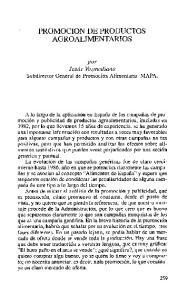 PROMOCION DE PRODUCTOS AGROALIMENTARIOS