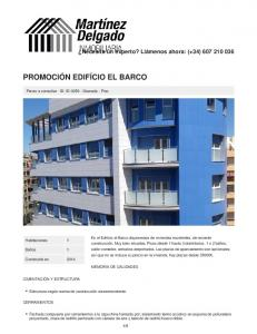 PROMOCIÓN EDIFÍCIO EL BARCO