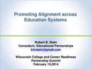 Promoting Alignment across Education Systems