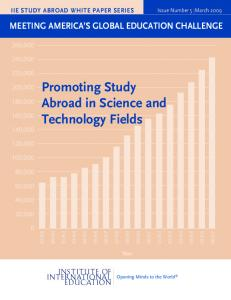 Promoting Study Abroad in Science and Technology Fields