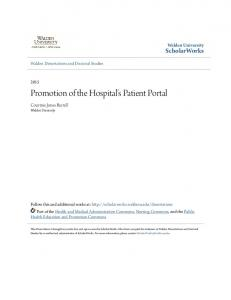Promotion of the Hospital's Patient Portal