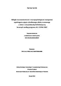 Promotor: Prof. zw. dr hab. med