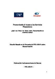 Promoviendo el Acceso a los Servicios Financieros:
