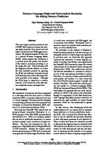 Pronoun Language Model and Grammatical Heuristics for Aiding Pronoun Prediction