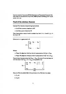 Proof of the minimax theorem
