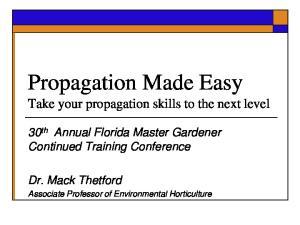 Propagation Made Easy