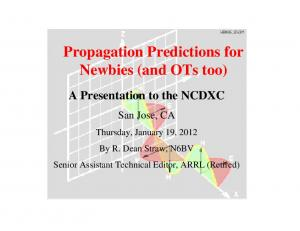 Propagation Predictions for Newbies (and OTs too)