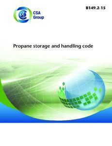 Propane storage and handling code B