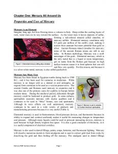 Properties and Uses of Mercury