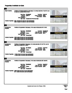 Properties Available for Sale