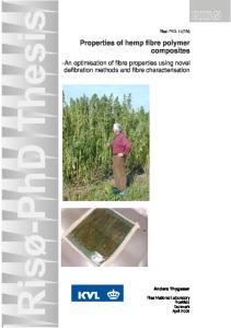 Properties of hemp fibre polymer composites