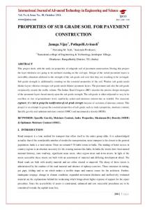 PROPERTIES OF SUB GRADE SOIL FOR PAVEMENT CONSTRUCTION
