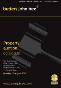 Property auction catalogue.  Monday 10 August 2015