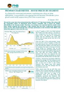 PROPERTY BAROMETER HOUSE PRICES BY SEGMENT