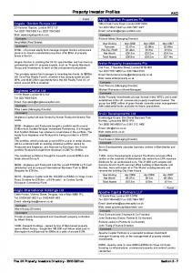 Property Investor Profiles