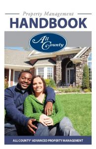 Property Management. HAndbook. Property Management. All County Advanced Property Management