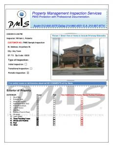 Property Management Inspection Services PMIS Protection with Professional Documentation