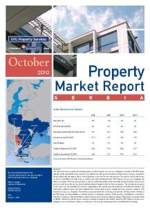 Property. Market Report. October. 2010f SERBIA. Highlights. Serbia: Macroeconomic Indicators GREECE