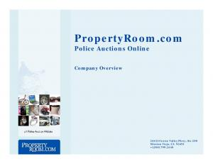 PropertyRoom.com Police Auctions Online