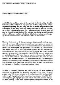 PROPHETS AND PROPHECIES SERIES