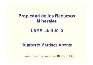 Propiedad de los Recursos Minerales