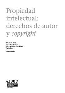 Propiedad intelectual: derechos de autor y copyright