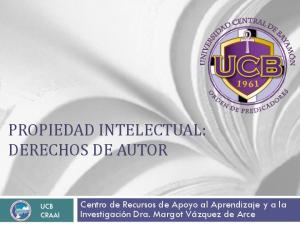 PROPIEDAD INTELECTUAL: DERECHOS DE AUTOR