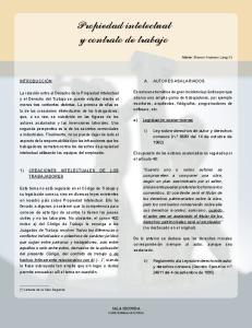 Propiedad intelectual y contrato de trabajo