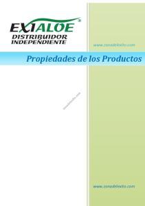 Propiedades de los Productos