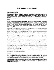 PROPIEDADES DE LOS SUELOS