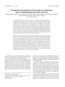 Propiedades psicométricas de la Escala de Autoeficacia para el Afrontamiento del Estrés (EAEAE)