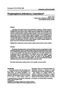 Propioceptores articulares y musculares*