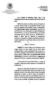 propios derechos JUICIO ORAL DE CONTROVERSIA SOBRE