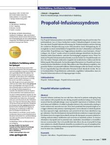 Propofol-Infusionssyndrom