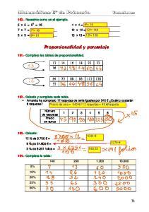 Proporcionalidad y porcentaje
