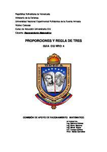 PROPORCIONES Y REGLA DE TRES