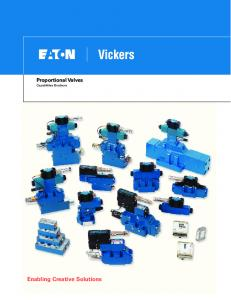 Proportional Valves Capabilities Brochure. Enabling Creative Solutions