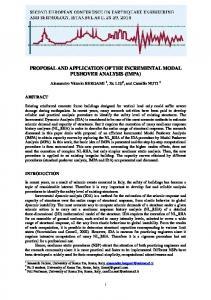 PROPOSAL AND APPLICATION OF THE INCREMENTAL MODAL PUSHOVER ANALYSIS (IMPA)